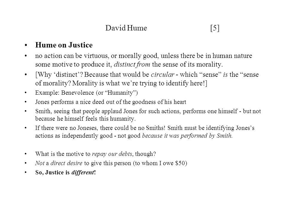 David Hume [5] Hume on Justice